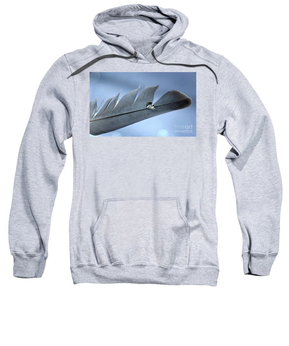 Feather Sweatshirt featuring the photograph Wing Of Hope by Krissy Katsimbras