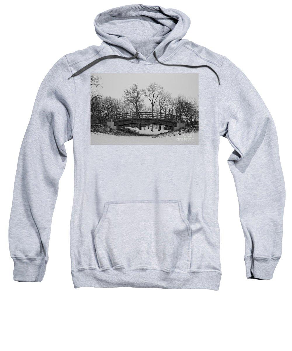 Landscape Sweatshirt featuring the photograph Winter Bridge by Stephanie Bland