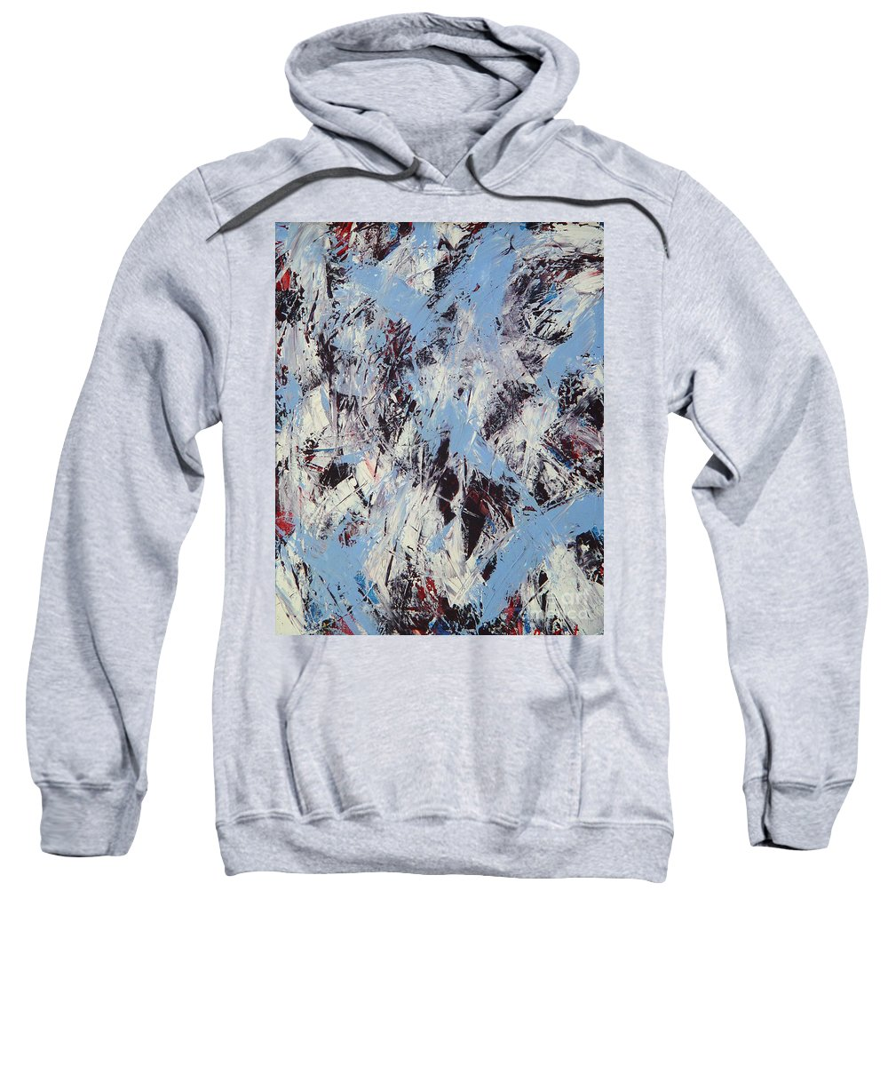 Abstract Sweatshirt featuring the painting Winter by Dean Triolo