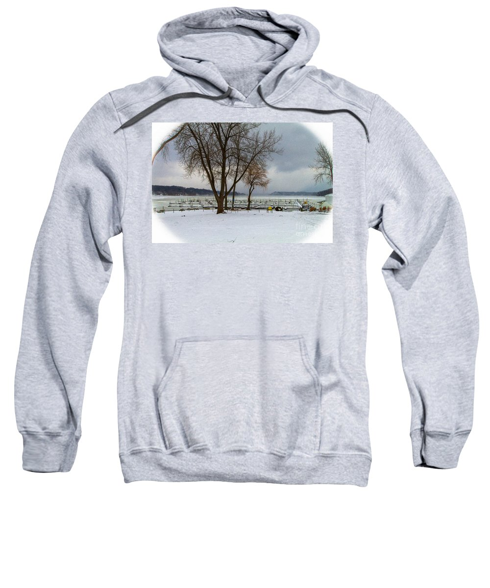 Winter Sweatshirt featuring the photograph Winter Has Arrived by William Norton