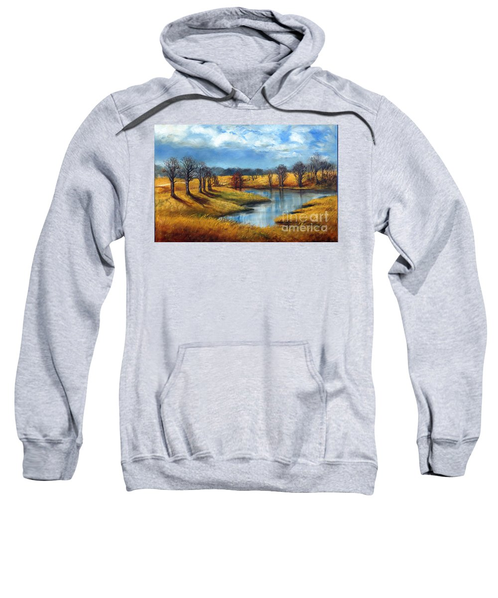 Tennessee Sweatshirt featuring the painting Winter In Tennessee by Randy Burns