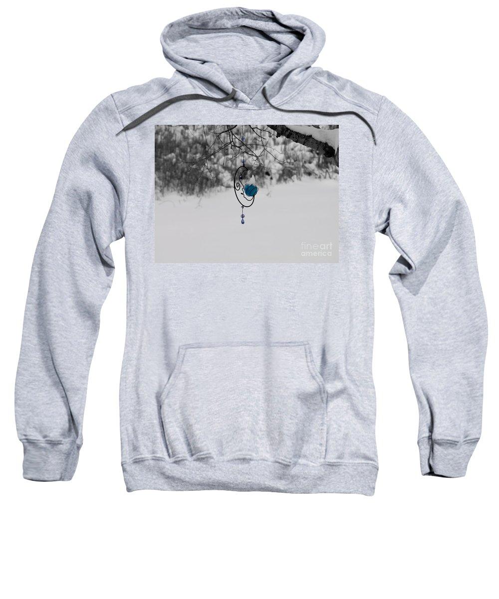 Michigan Sweatshirt featuring the photograph Winter Moon by Tara Lynn