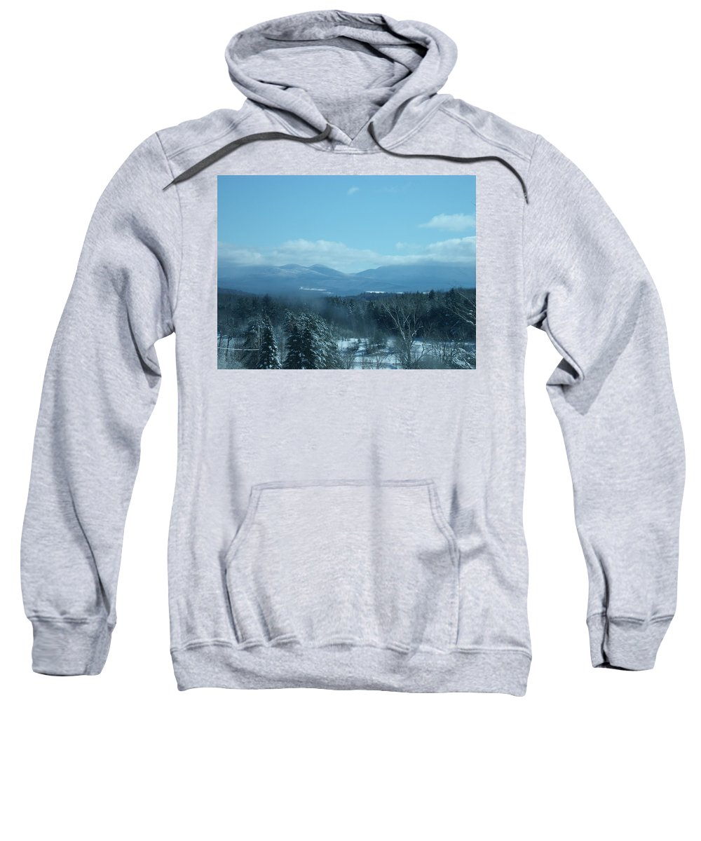Mountains Sweatshirt featuring the photograph Winter Morning by Dennis Comins