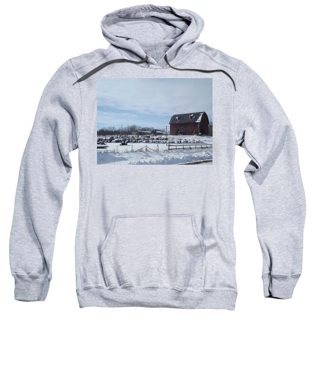 Elkader Iowa Sweatshirt featuring the photograph Winter Museum by Bonfire Photography