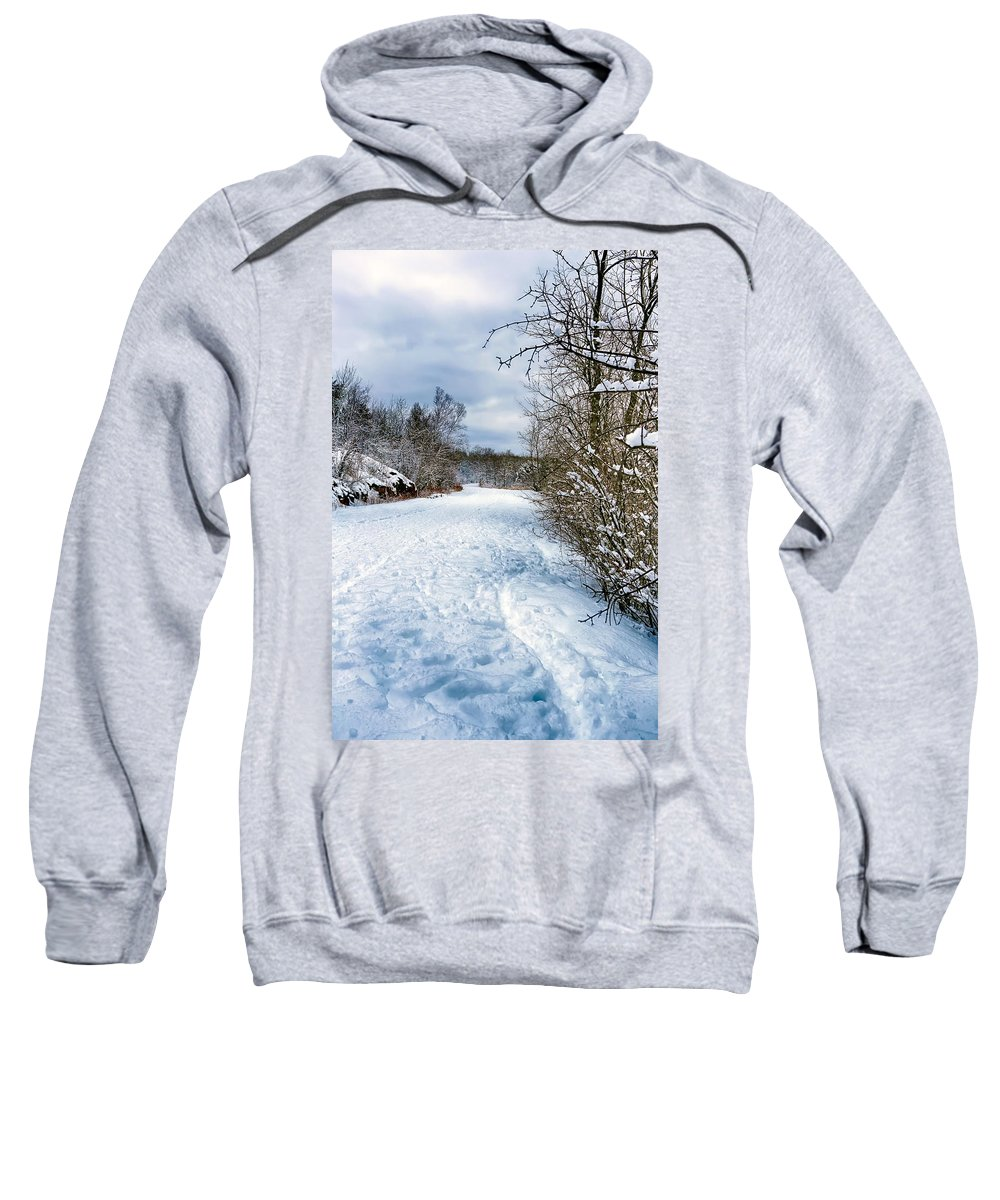 Winter Sweatshirt featuring the photograph Winter Road by Bryan Benson