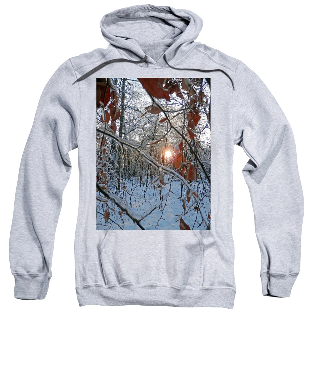 Winter Sweatshirt featuring the photograph Winter Sunset 2 by Pema Hou