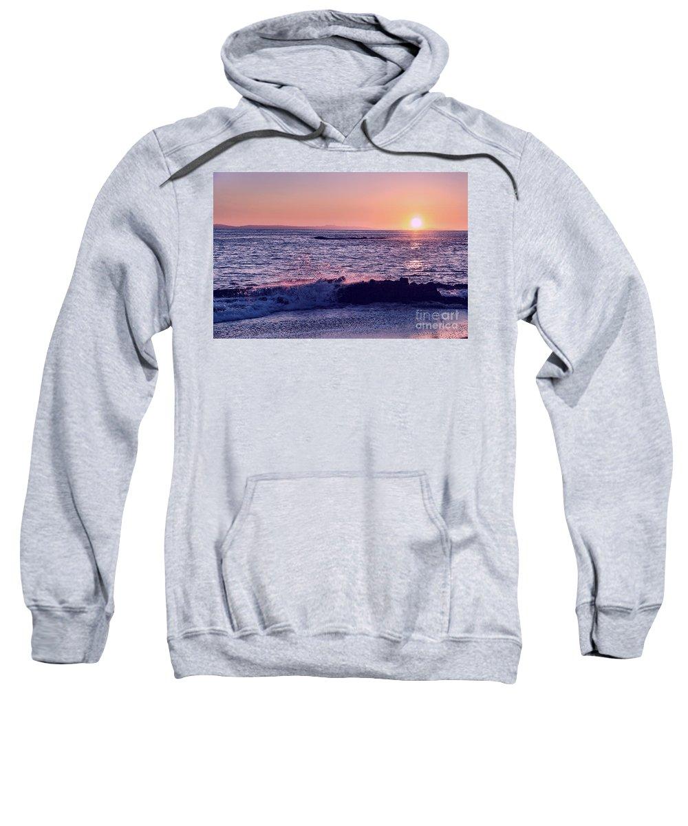 Sun Sweatshirt featuring the photograph Winter Sunset In Laguna Beach IIi by Mariola Bitner