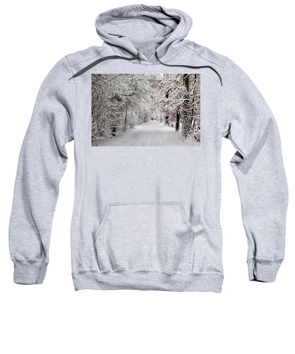 Nature Sweatshirt featuring the photograph Winter Walk In Fairytale by Annie Snel