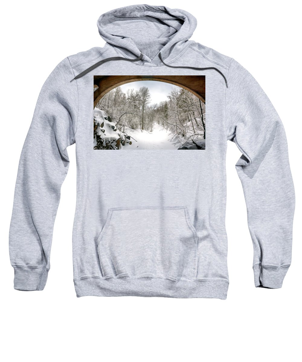 Winter Sweatshirt featuring the photograph Winter Welcome by Bryan Benson