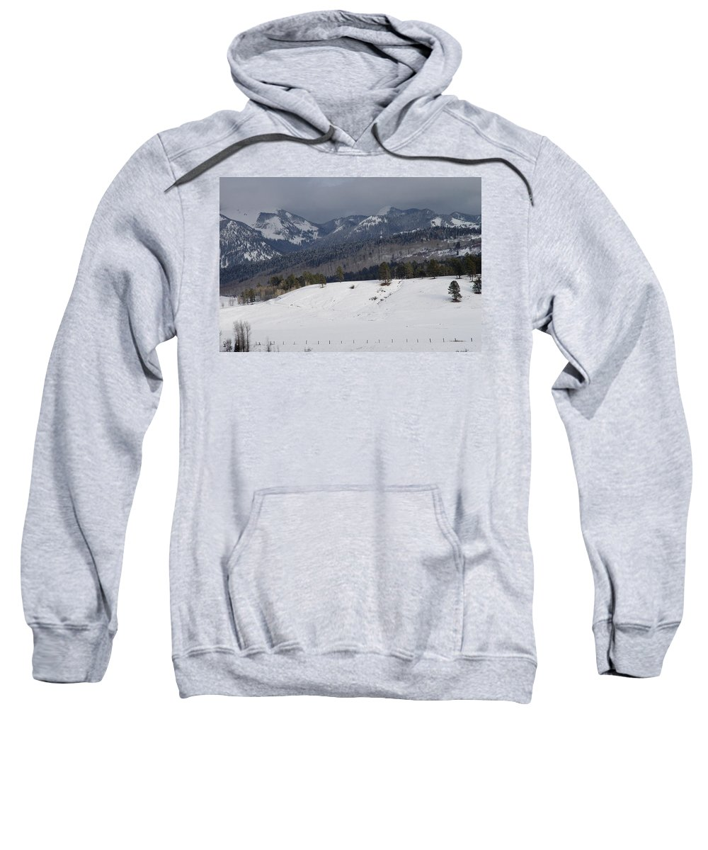 Nature Sweatshirt featuring the photograph Winterscape by Noa Mohlabane