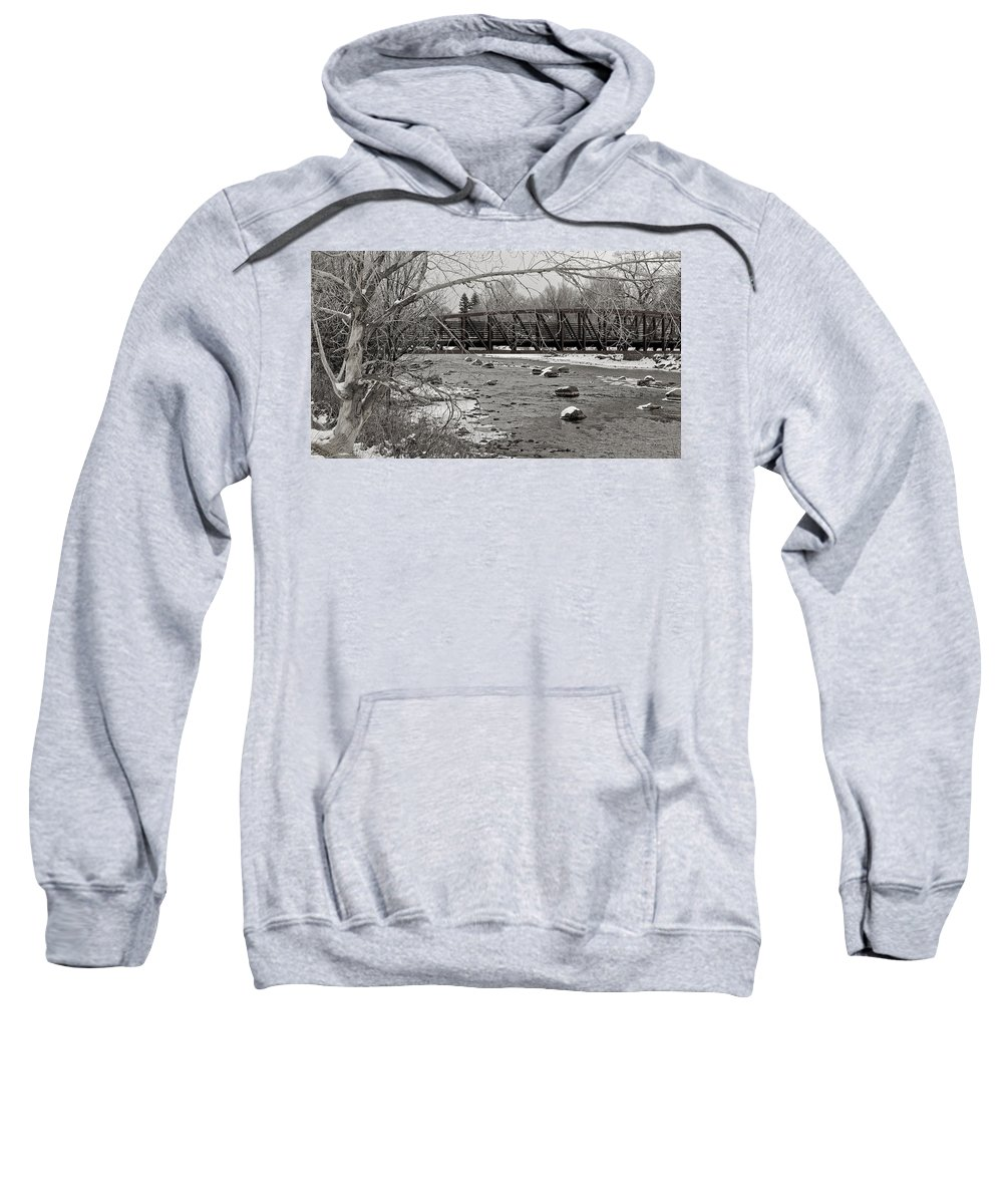 Animas River Sweatshirt featuring the photograph Wintry Walk by Pam Boling