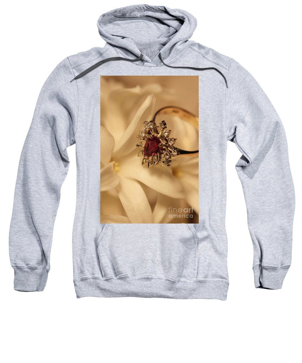 Flower Sweatshirt featuring the photograph With Love by Joy Watson