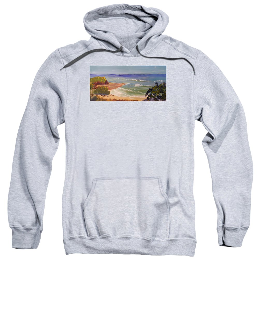 Impressionism Sweatshirt featuring the painting Wombarra Beach by Pamela Meredith