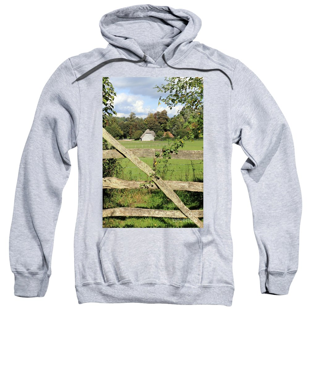 Traditional Gate Wooden Sussex Uk Sweatshirt featuring the photograph Wooden Gate Sussex Uk by Julia Gavin