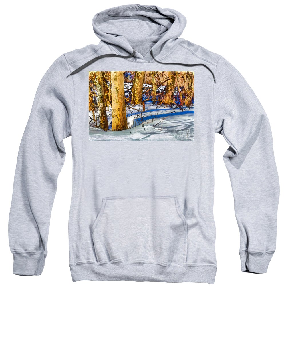 Woods Sweatshirt featuring the photograph Woodland Graphic by Pat Lucas