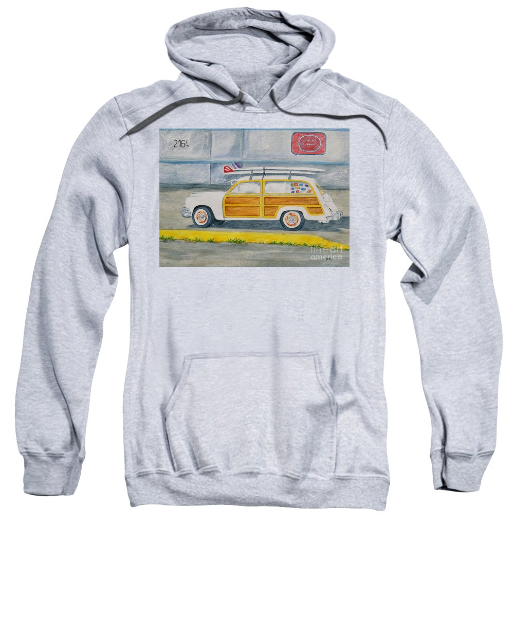 Woody Paintings Sweatshirt featuring the painting Woody by Regan J Smith