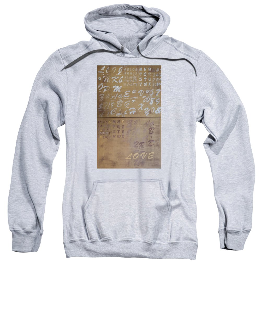 Letters Sweatshirt featuring the painting Words by Janina Pazdan