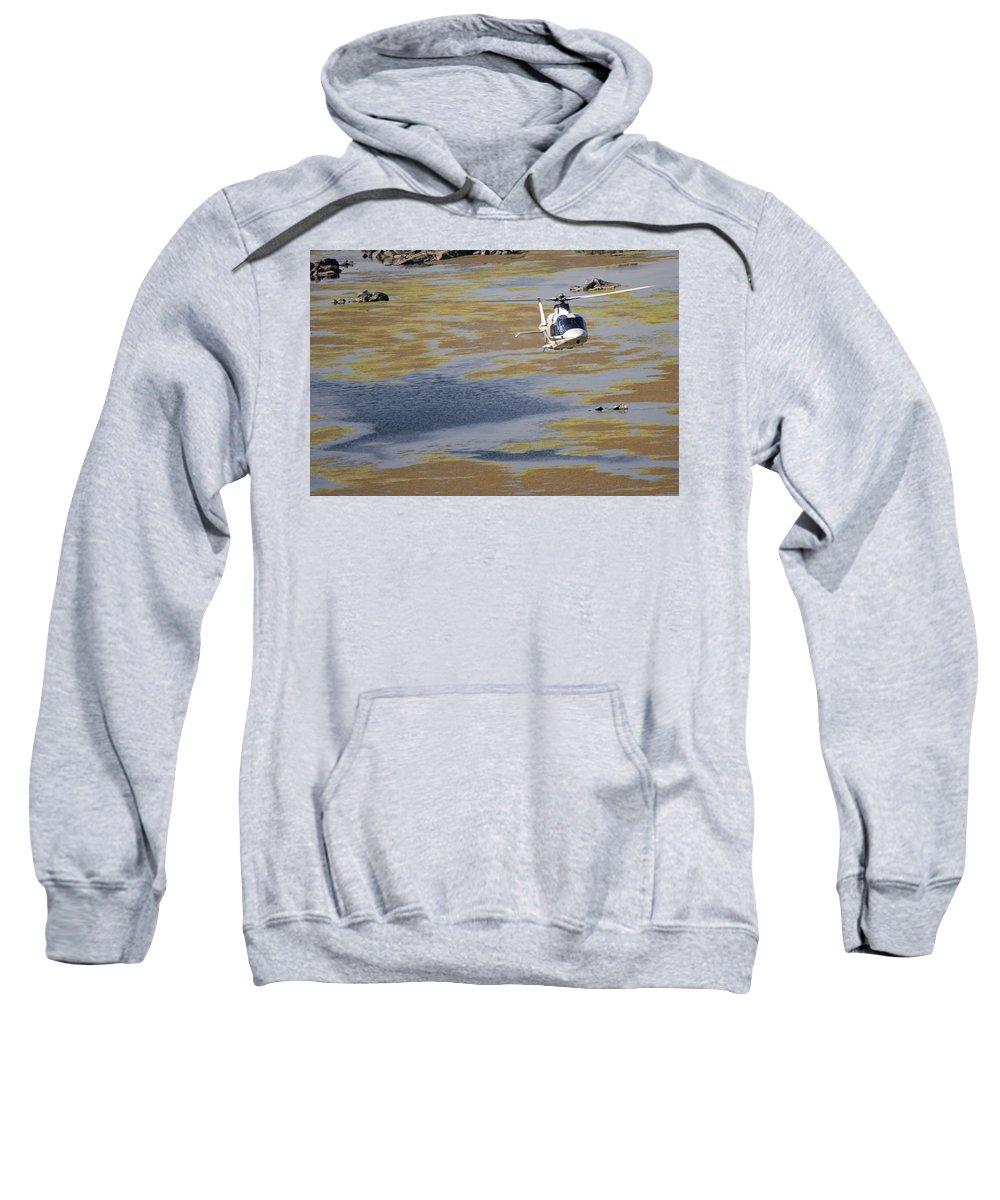 Agustawestland A109 Grand Sweatshirt featuring the photograph Work Of Art by Paul Job