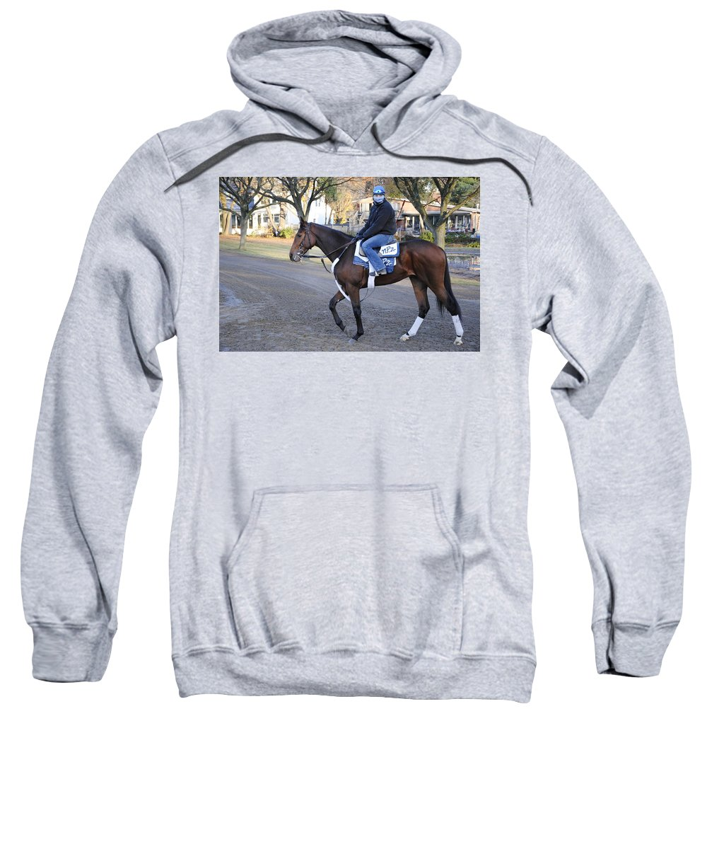 Saratoga Sweatshirt featuring the photograph Work Out by George Fredericks