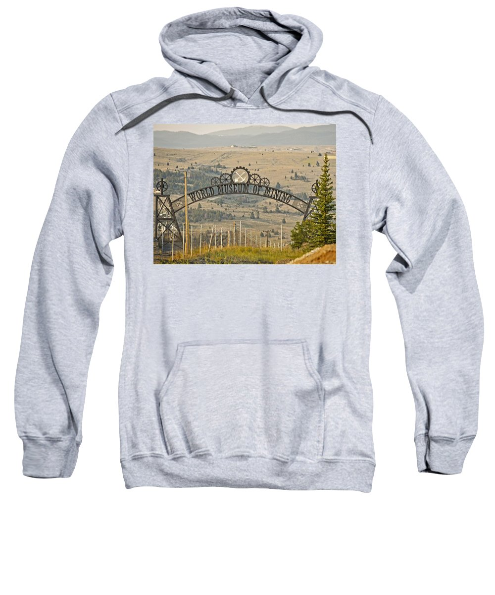 Butte Sweatshirt featuring the photograph World Museum Mining by Image Takers Photography LLC - Carol Haddon
