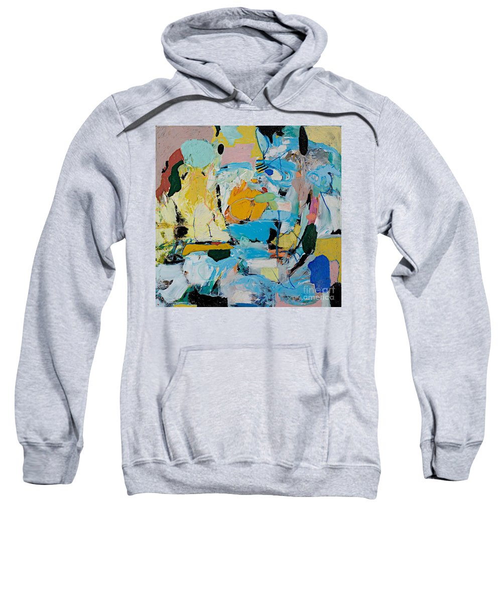Landscape Sweatshirt featuring the painting World Of Action by Allan P Friedlander