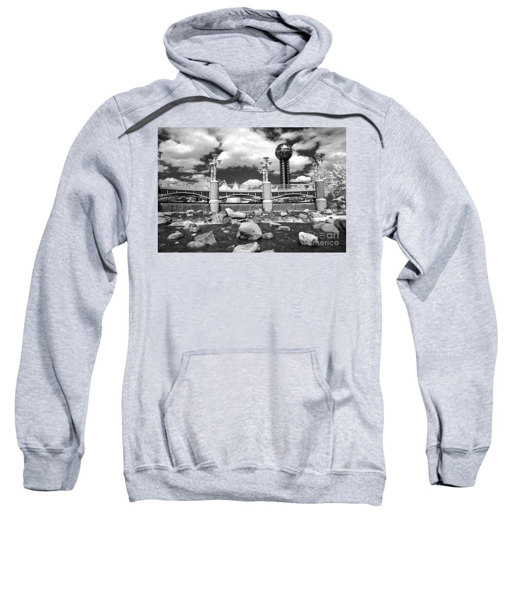 Infrared Sweatshirt featuring the photograph Worlds Fair Park In Knoxville - Infrared by Paul W Faust - Impressions of Light