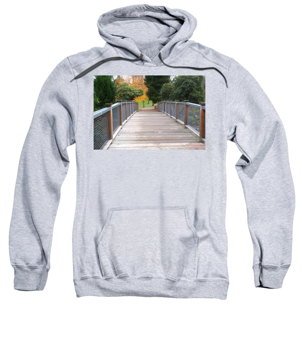 Bridge Sweatshirt featuring the photograph Wrights Park Bridge by Tikvah's Hope