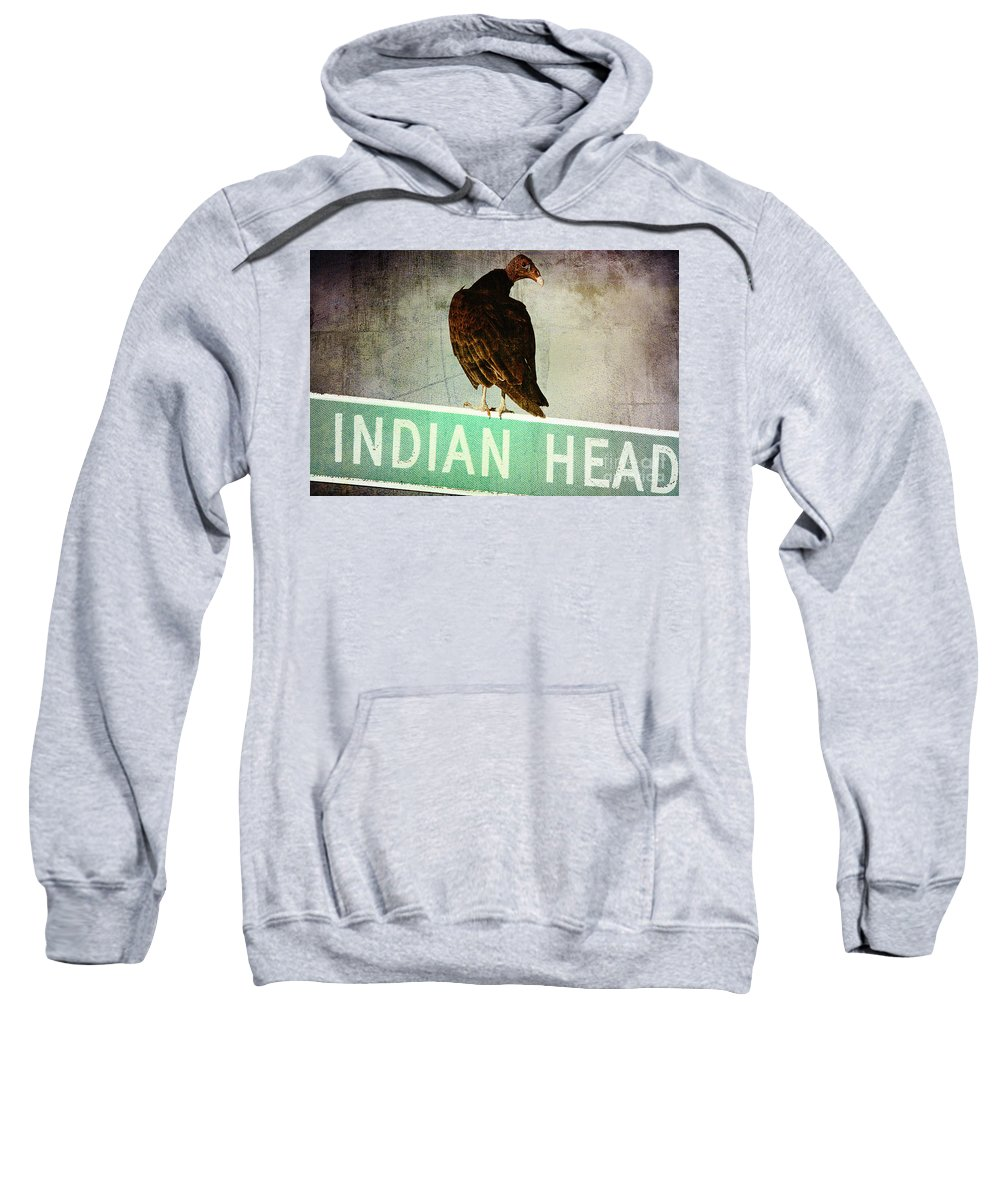 Turkey Vulture Sweatshirt featuring the photograph Wrong Turn by Trish Mistric