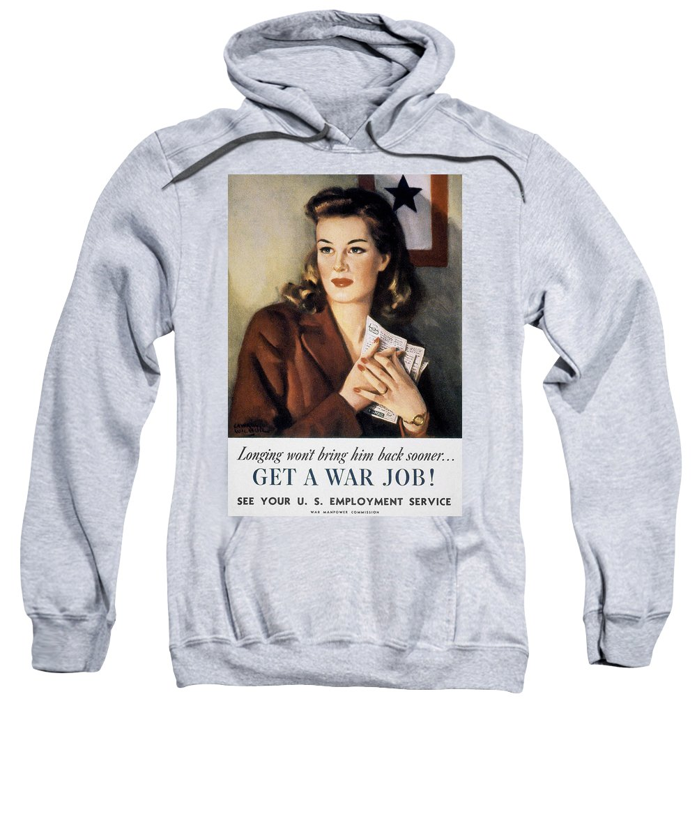 20th Century Sweatshirt featuring the photograph Ww II: Employment Service by Granger
