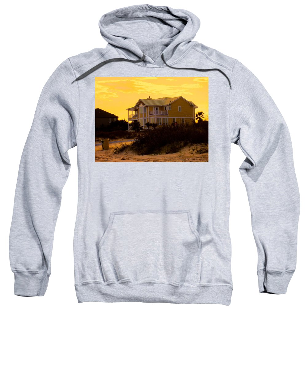 Kendall Kessler Sweatshirt featuring the photograph Yellow Beauty At Isle Of Palms by Kendall Kessler