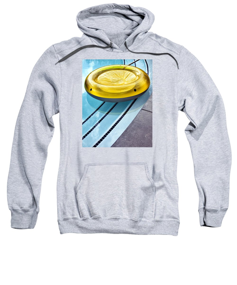 V Sweatshirt featuring the photograph Yellow Float Palm Springs by William Dey
