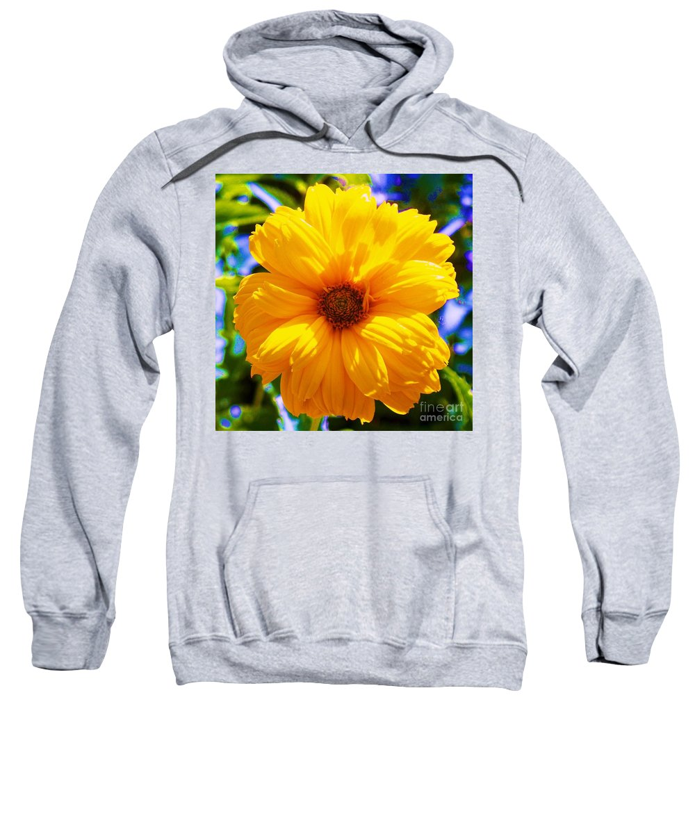 Flora Sweatshirt featuring the photograph Yellow Sunflower by Eric Schiabor