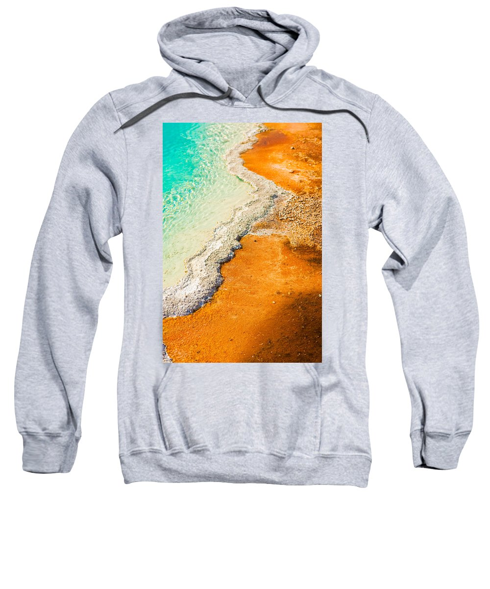 Yellowstone National Park Sweatshirt featuring the photograph Yellowstone Abstract by Sebastian Musial