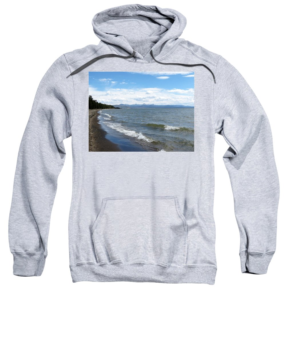 Yellowstone National Park Sweatshirt featuring the photograph Yellowstone Lake by Laurel Powell