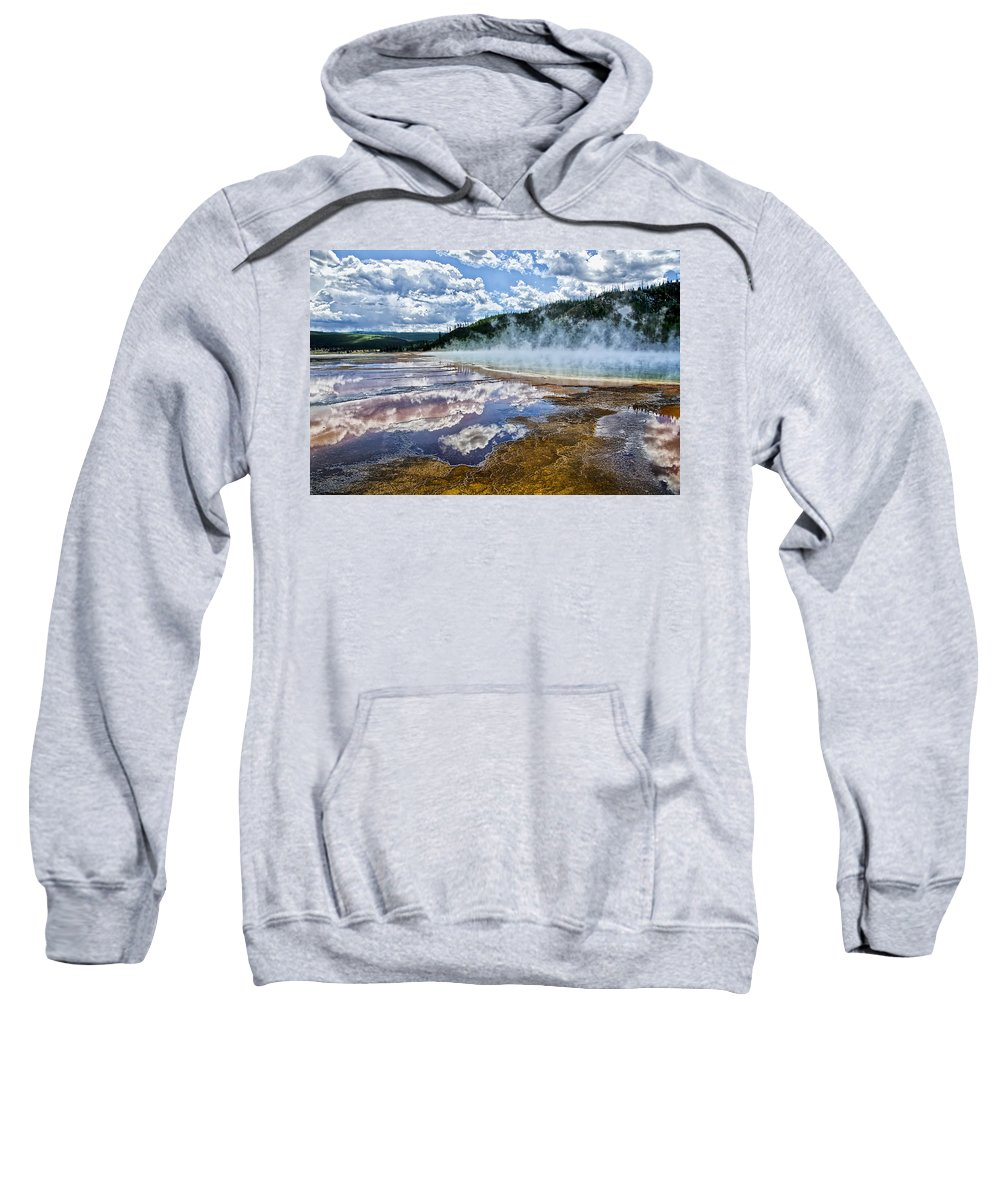 Yellowstone National Park Sweatshirt featuring the photograph Yellowstone - Springs by Jon Berghoff
