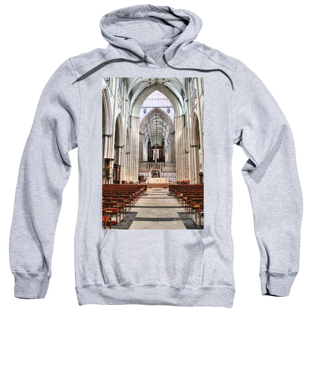 York Minster Sweatshirt featuring the photograph York Minster 6114 by Jack Schultz