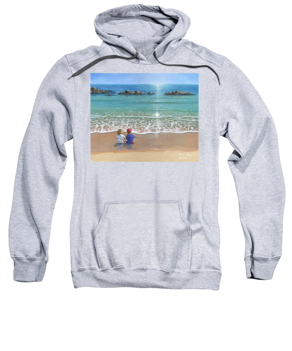 Landscape Sweatshirt featuring the painting You And Me by Richard Harpum