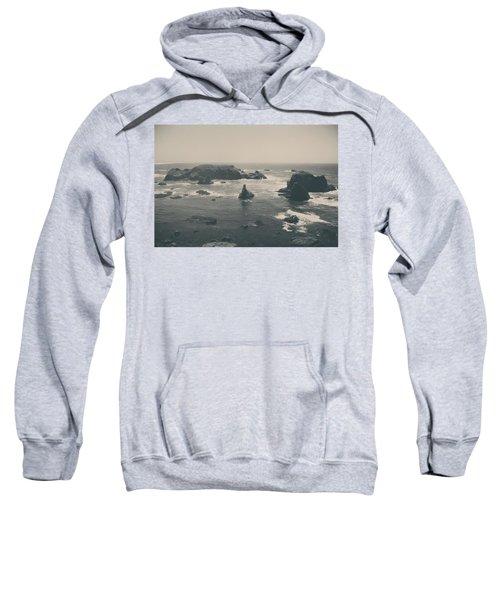Mendocino Coast Sweatshirt featuring the photograph You Are Everywhere by Laurie Search