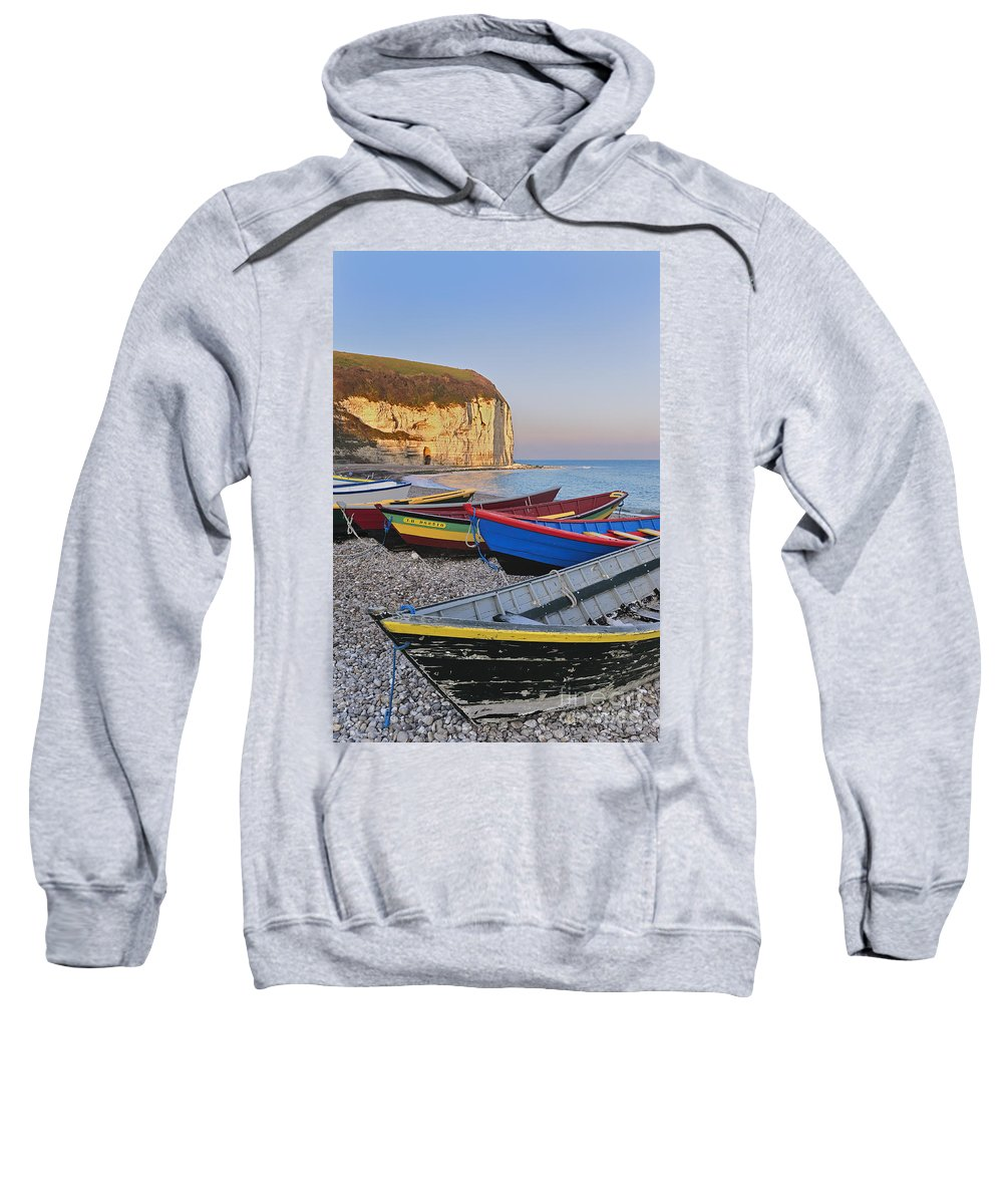 Aval Sweatshirt featuring the photograph Yport 1 by Arterra Picture Library
