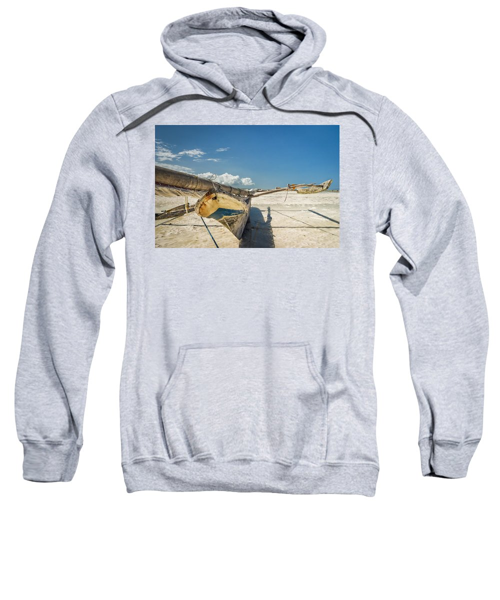 3scape Sweatshirt featuring the photograph Zanzibar Outrigger by Adam Romanowicz