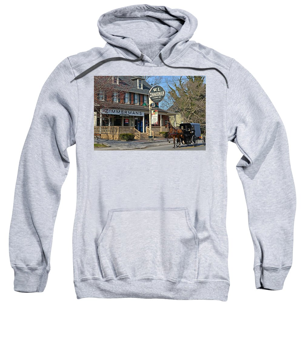 Amish Sweatshirt featuring the photograph Zimmerman's Store Intercourse Pennsylvania by Tana Reiff