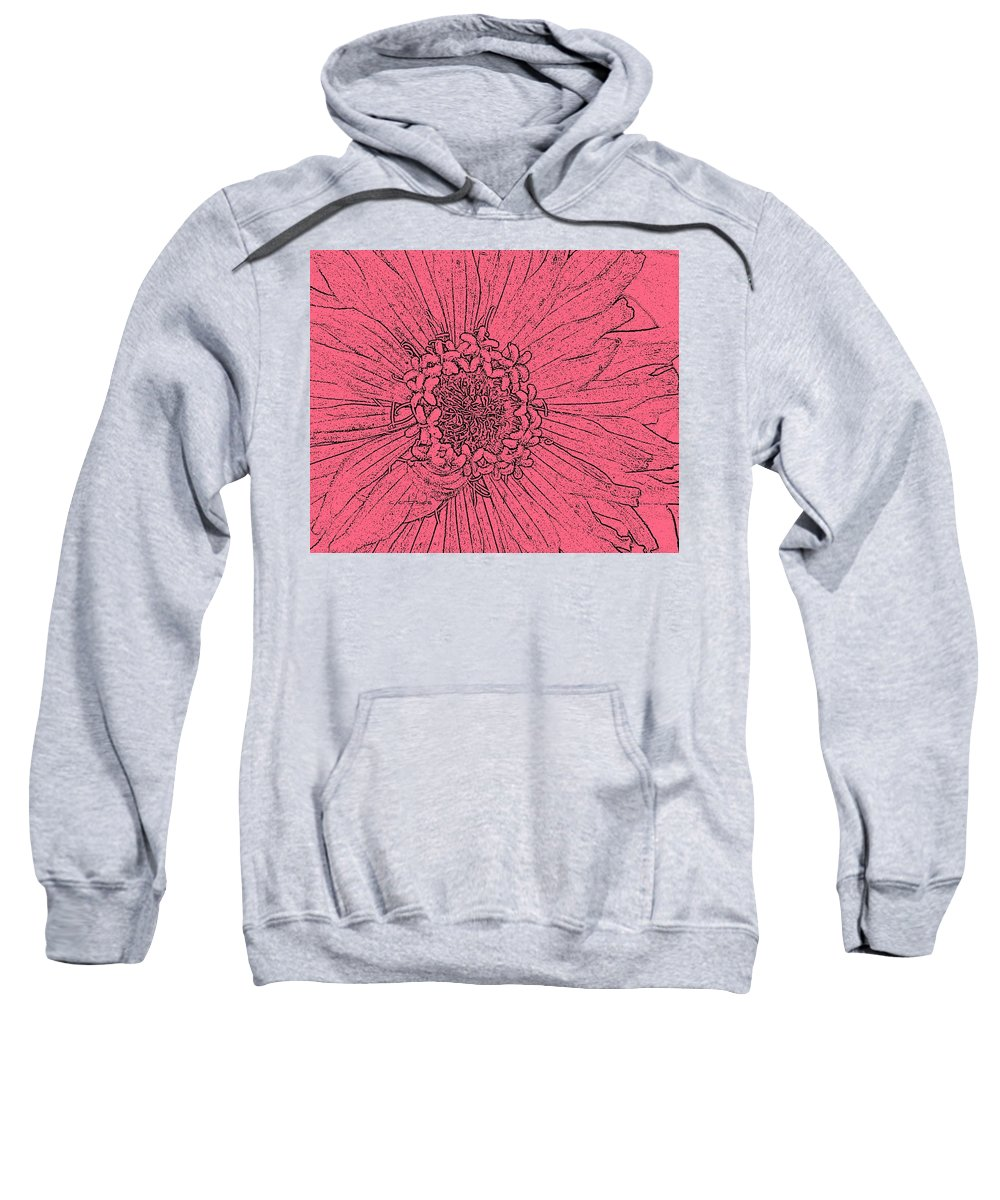Earthy Sweatshirt featuring the photograph Zinnia In Pencil by Chris Berry