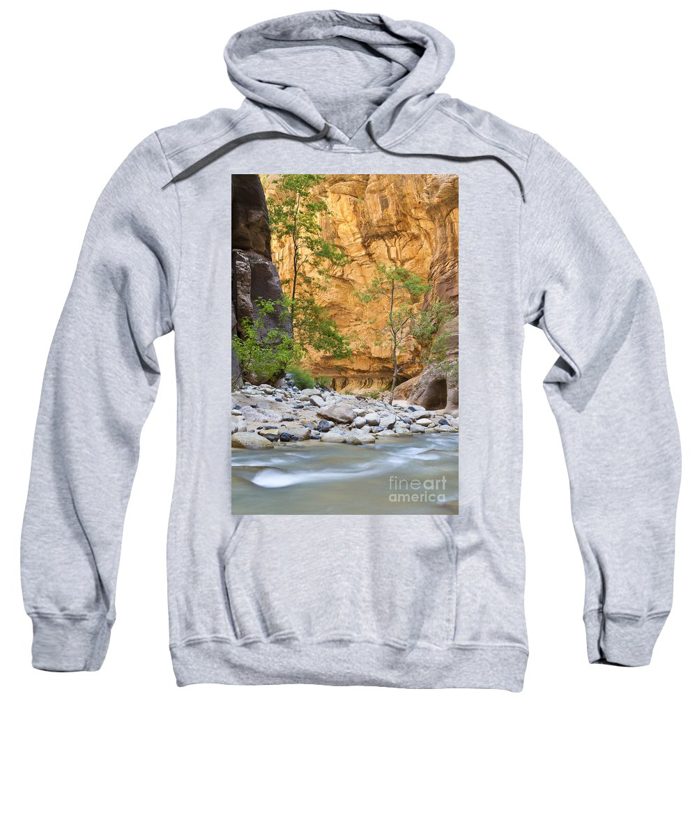 Zion Sweatshirt featuring the photograph Zion Narrows by Bryan Keil