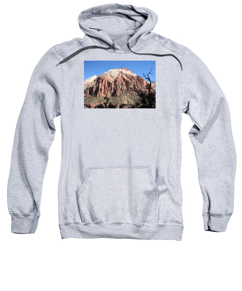 Mountains Sweatshirt featuring the photograph Zion Park Mountainscape by Christiane Schulze Art And Photography