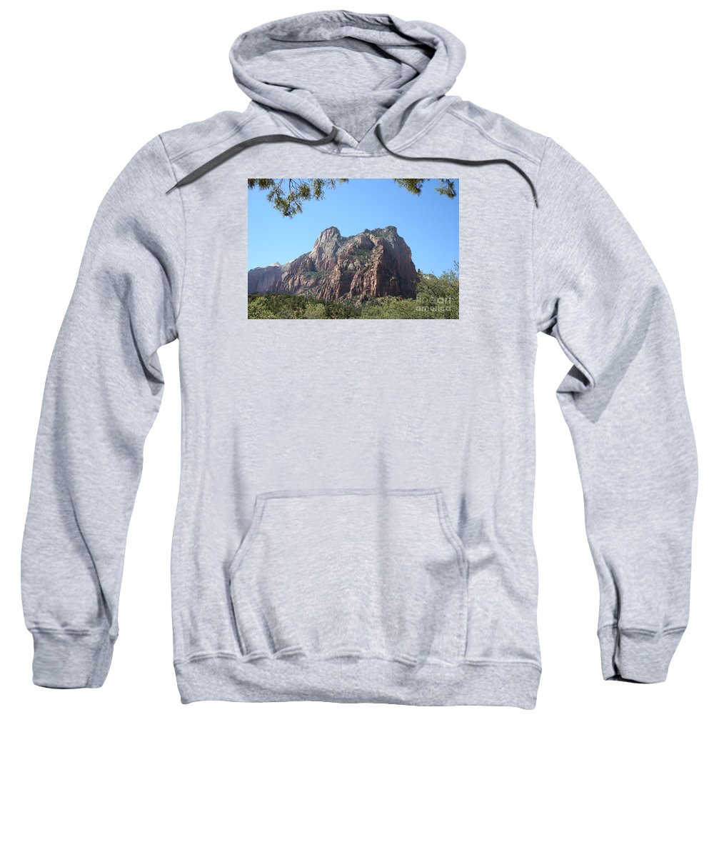 Patriach Sweatshirt featuring the photograph Zion Park Patriach by Christiane Schulze Art And Photography