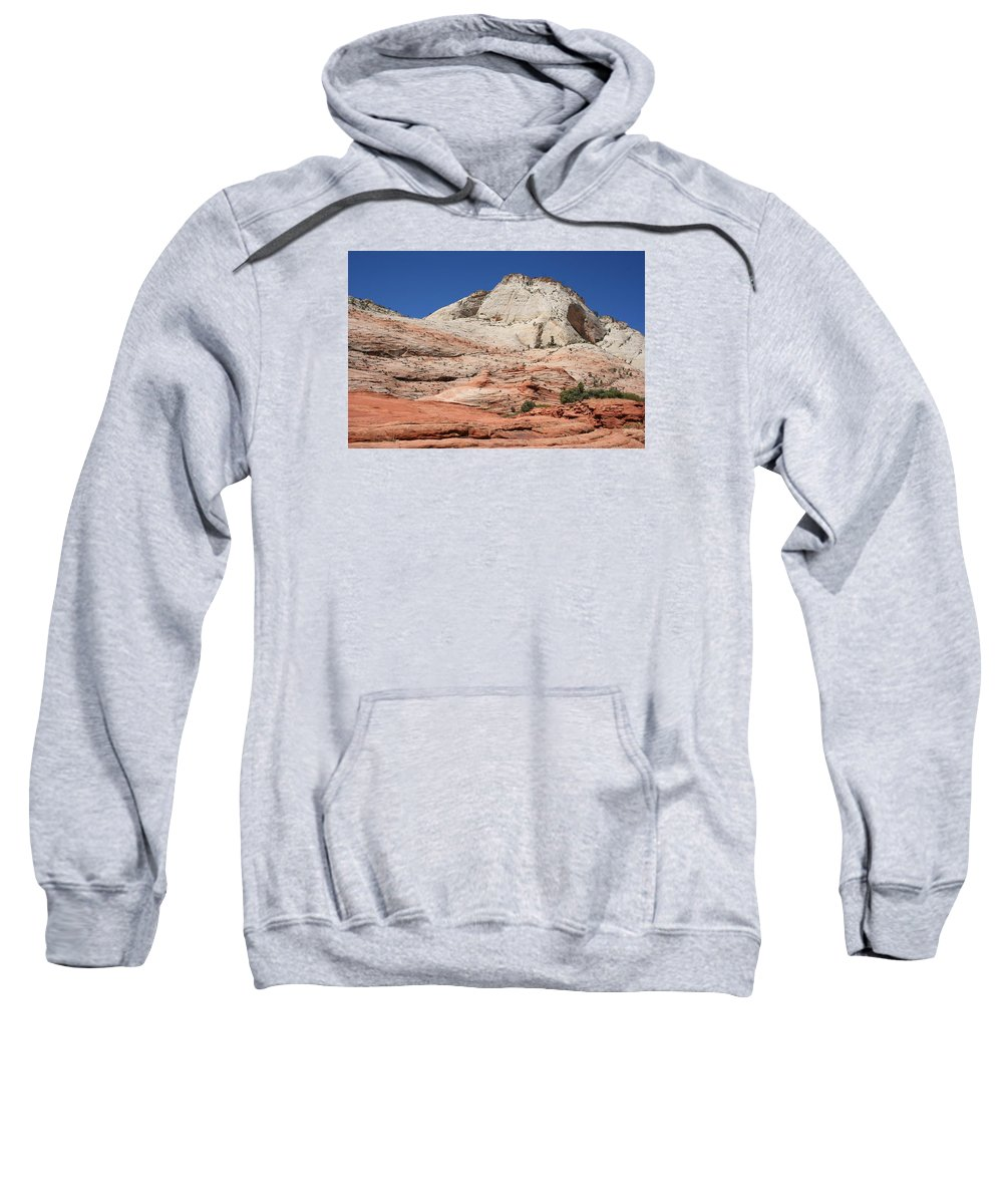 Mountains Sweatshirt featuring the photograph Zion Park - Rock Texture by Christiane Schulze Art And Photography