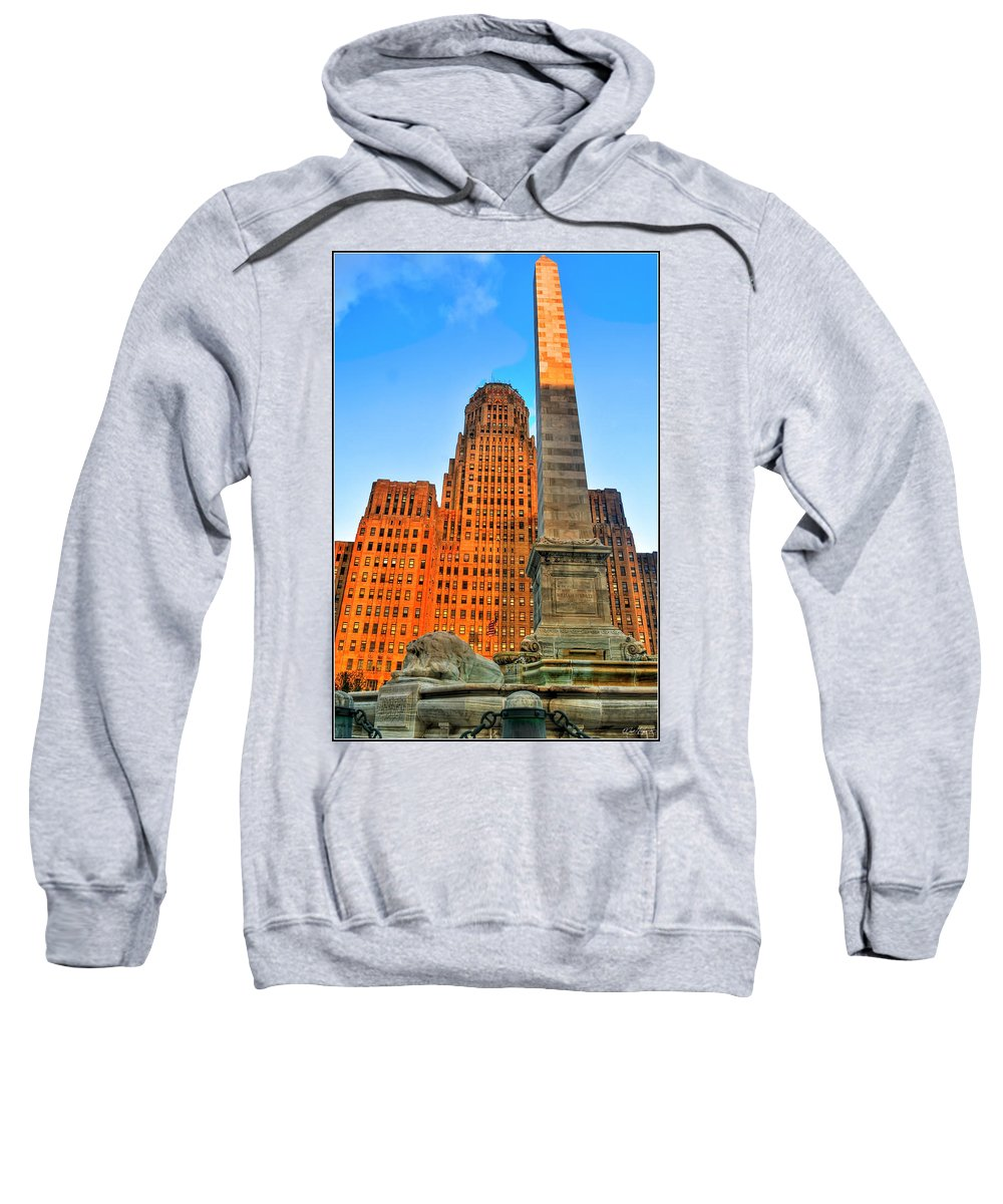 Sweatshirt featuring the photograph 001 Wakening Architectural Dynamics by Michael Frank Jr