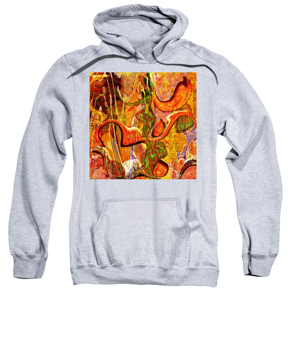Abstract Sweatshirt featuring the digital art 0625 Abstract Thought by Chowdary V Arikatla