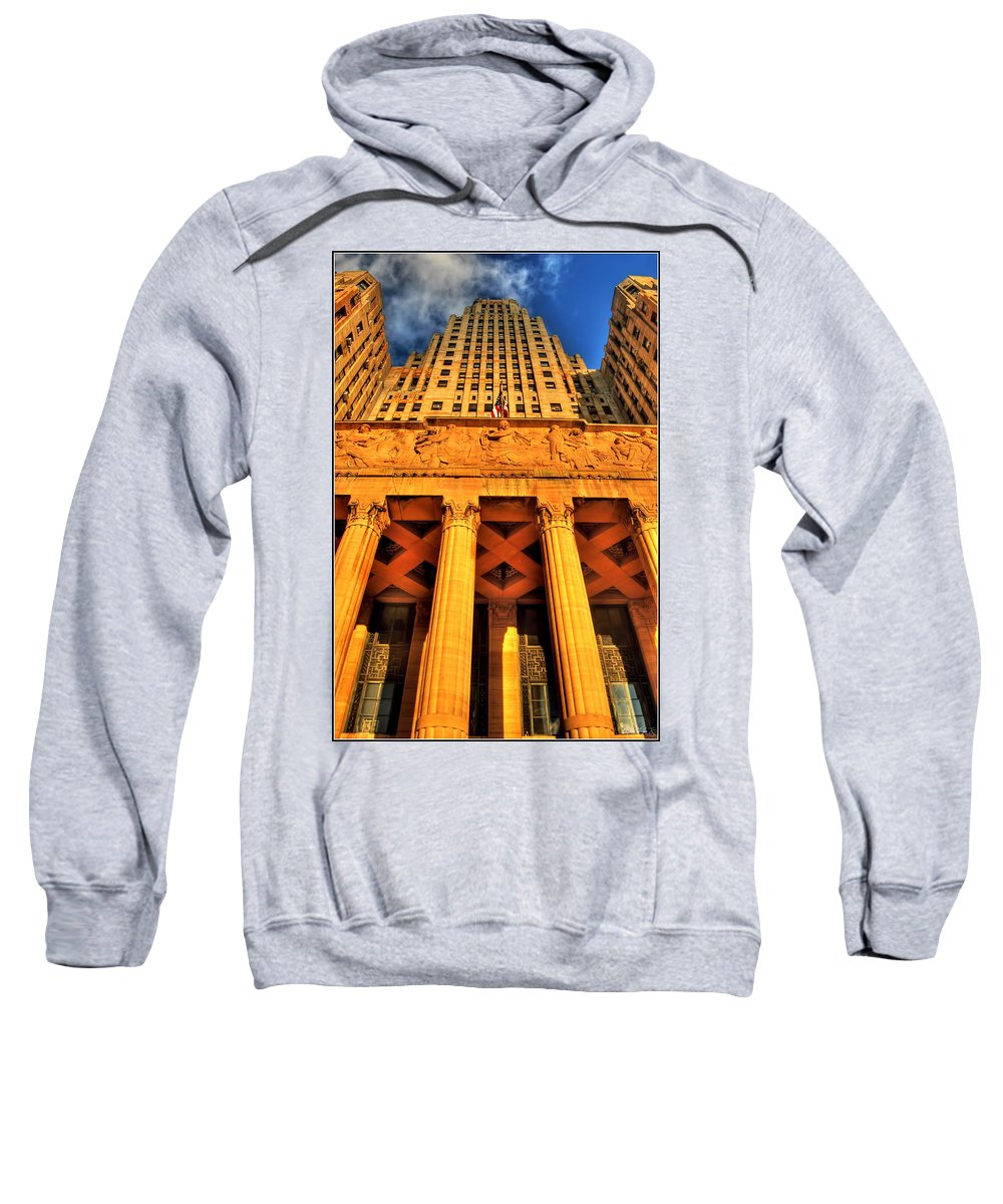 Sweatshirt featuring the photograph 006 Wakening Architectural Dynamics by Michael Frank Jr