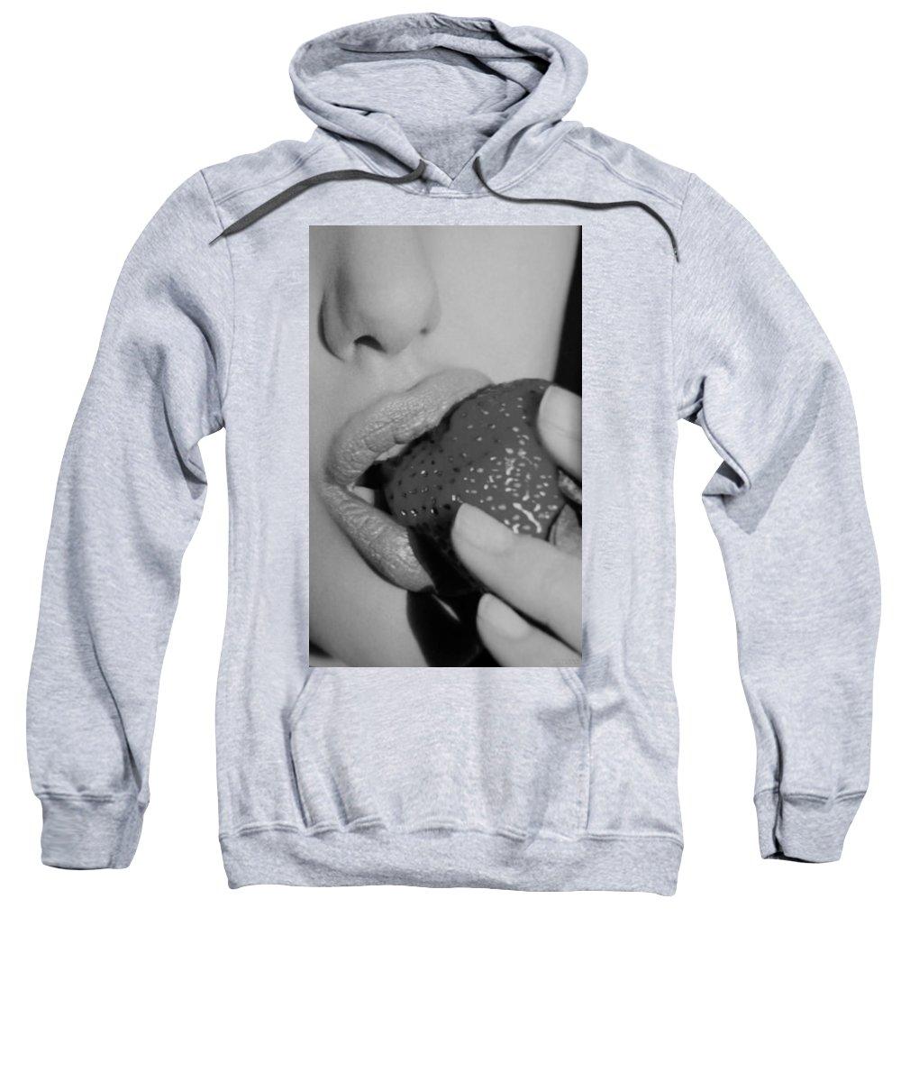 Macro Sweatshirt featuring the photograph Angelina by Rob Hans
